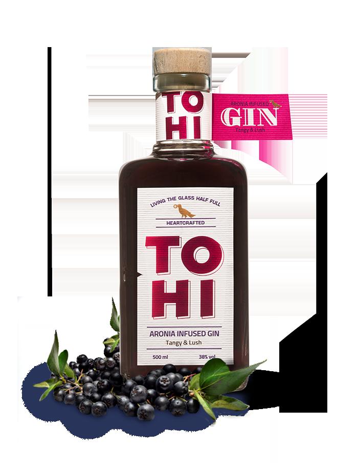 Tohi Aronia Gin bottle