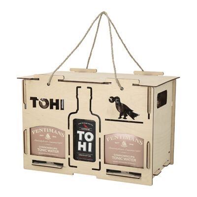 TOHI gift set with gin and Fentimans tonics, gin glass
