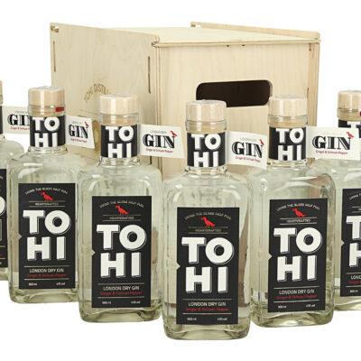Wooden box Tohi London Dry Gin